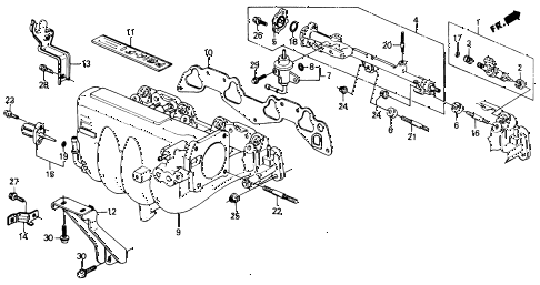 Honda online store : 1991 civic intake manifold (2) parts