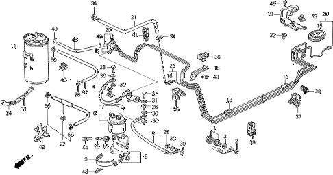 Honda online store : 1990 civic fuel pipe parts