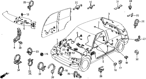 Honda online store : 1990 civic wire harness parts
