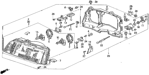 Honda online store : 1990 civic headlight parts