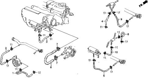 Honda online store : 1989 civic water hose parts