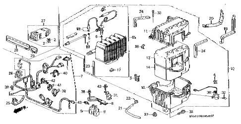 Honda online store : 1990 civic a/c unit parts