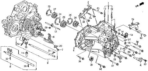 Honda online store : 1991 accord at transmission housing parts