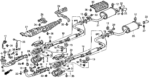 Honda online store : 1990 accord exhaust system parts