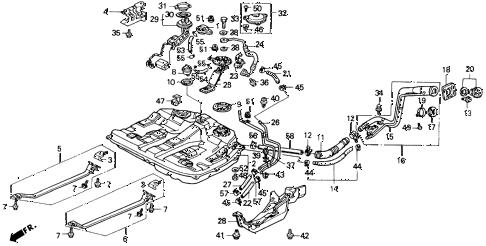 Honda online store : 1990 accord fuel tank parts