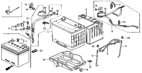 Honda online store : 1990 accord battery parts