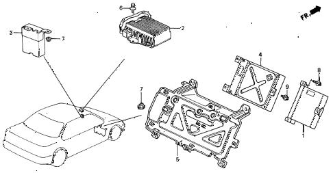 Honda online store : 1990 accord control unit parts