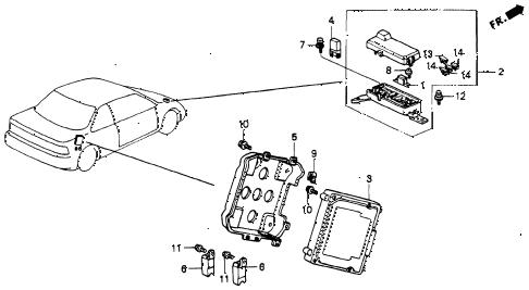 Honda online store : 1992 accord abs unit parts