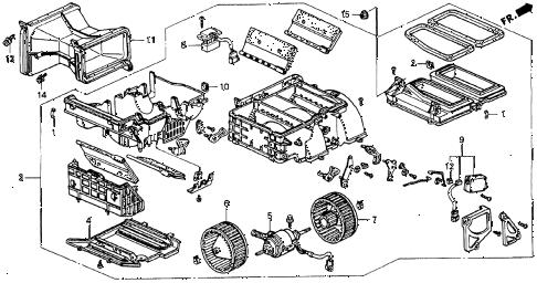 Honda online store : 1992 accord heater blower parts