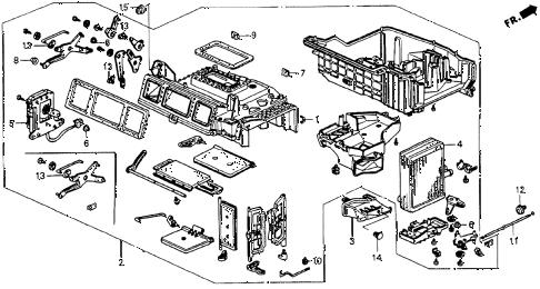 Honda online store : 1990 accord heater unit parts
