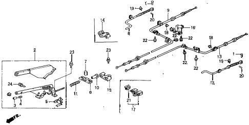 Honda online store : 1990 accord parking brake parts