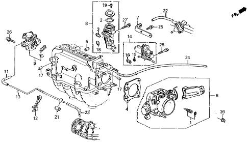 Honda online store : 1992 accord throttle body parts