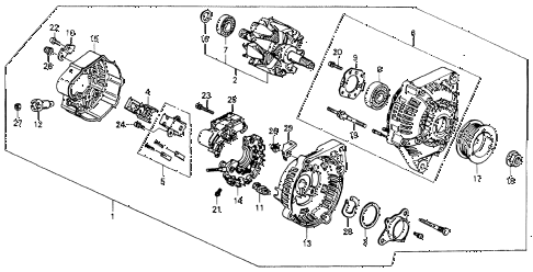 Honda online store : 1991 accord alternator (denso) parts