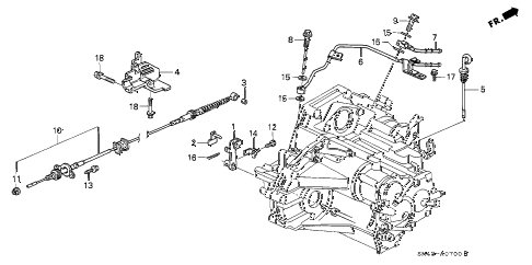Honda online store : 1991 accord at control wire parts