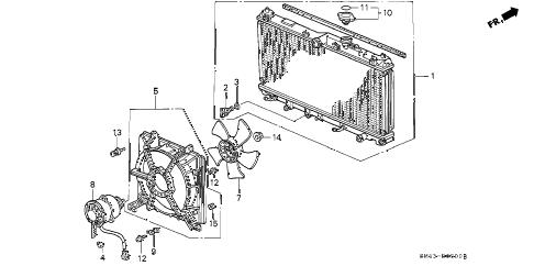 Honda online store : 1990 accord radiator (denso) parts