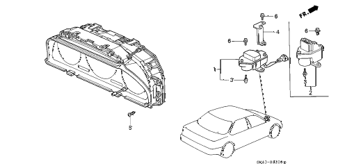 Honda online store : 1991 accord speed sensor parts