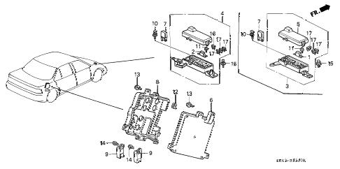 Honda online store : 1991 accord control unit (a.l.b.) parts