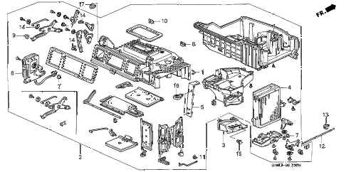Honda online store : 1992 accord heater unit parts