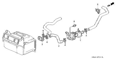 Honda online store : 1992 accord water valve parts
