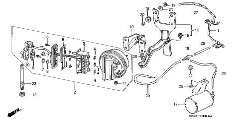 Honda online store : 1991 accord auto cruise parts