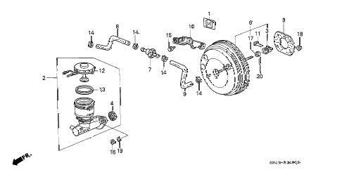 Honda online store : 1991 accord master cylinder parts