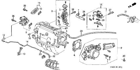 Honda online store : 1990 accord throttle body parts