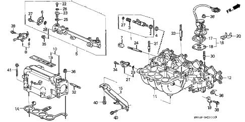 Honda online store : 1992 accord intake manifold (1) parts