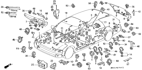 Honda online store : 1993 accord wire harness parts