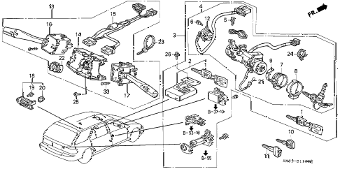 Honda online store : 1992 accord combination switch parts