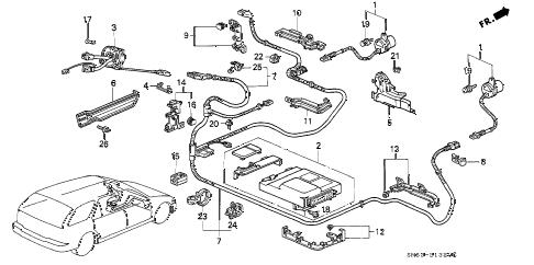 Honda online store : 1992 accord srs control unit parts