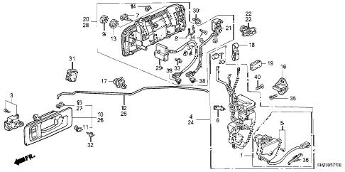 Honda online store : 1991 accord front door locks parts