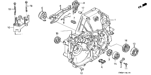 Honda online store : 1991 accord mt clutch housing parts