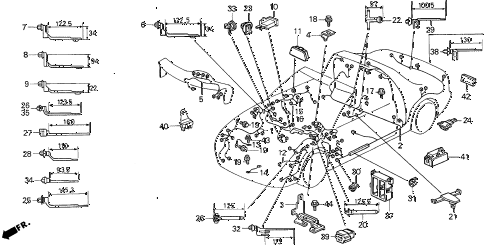 Honda online store : 1993 del wire harness parts