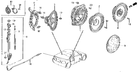 Honda online store : 1993 del speaker bracket parts