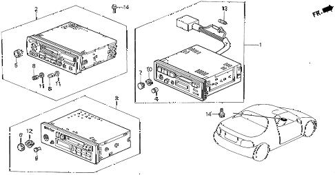 Honda online store : 1997 del auto radio parts