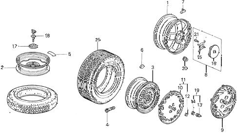 Honda online store : 1997 del wheels parts