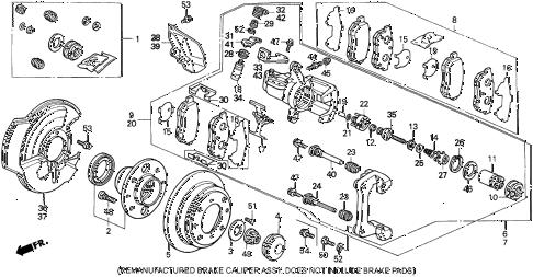 Honda online store : 1993 del rear brake (disk) (si,v-tec