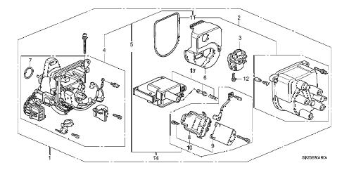 Honda online store : 1993 del distributor (tec) parts
