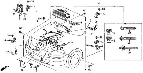 Honda online store : 1997 del engine wire harness ('96-'97