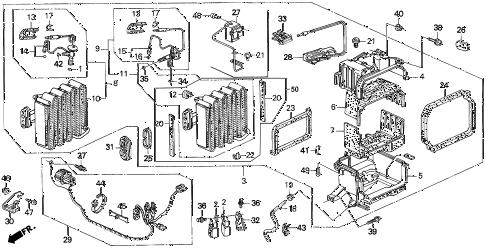 Honda online store : 1997 del a/c unit parts