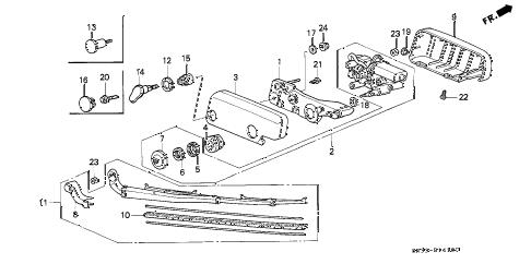 Honda online store : 1995 civic rear wiper parts