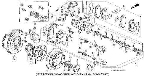 Honda online store : 1993 civic rear brake (disk) parts