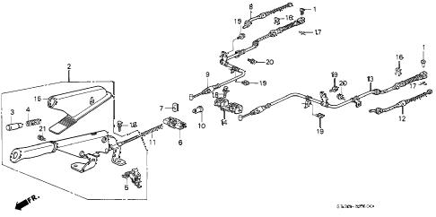 Honda online store : 1994 civic parking brake parts