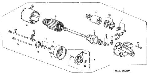 Honda online store : 1992 civic starter motor (hitachi) parts
