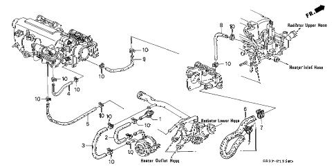 Honda online store : 1992 civic water hose (1) parts