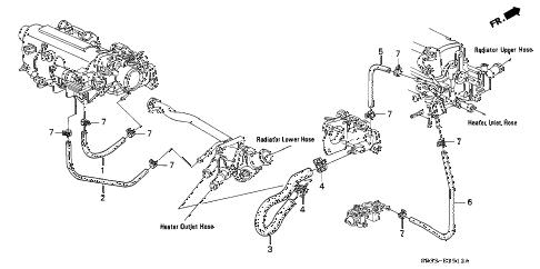 Honda online store : 1995 civic water hose (3) parts