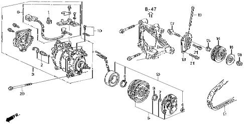 Honda online store : 1992 civic a/c compressor (sanden) (1