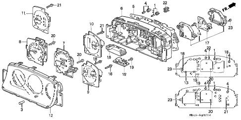 Honda online store : 1993 civic meter components parts
