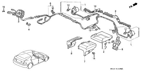 Honda Civic Srs Diagram Honda Relay Diagram Wiring Diagram