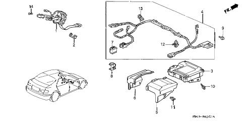 Honda online store : 1994 civic srs unit (2) parts